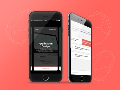 HfGuide product student app ux card ios ui minimal typography light dark mobile