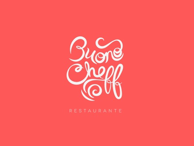 Buono Cheff buono cheff restaurante tipografia typography logo logotipo logomarca gilnei silva