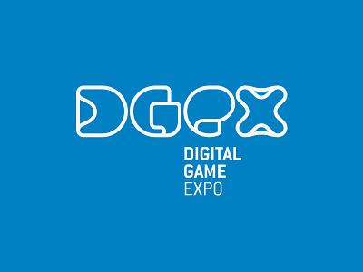 DGeX - Digital Game Expo lettering dgex digital game expo novo hamburgo brasil logo logotipo spr design tipografia design