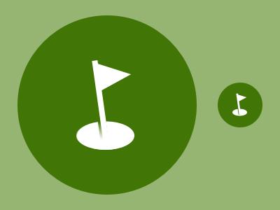 Course Flag golf flag hole icon