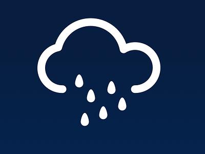 Rain Icon cloud snow fog sun thunder weather icons symbol icon rain