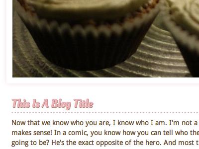 Blog Title blog title cake image