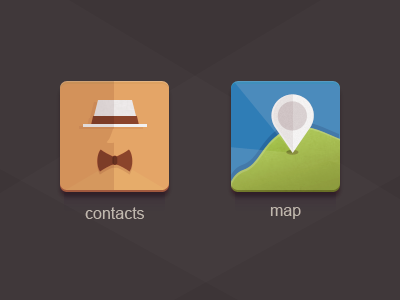 icons contacts map