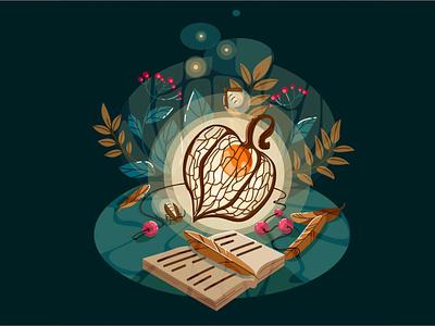 The play of light vector illustration design