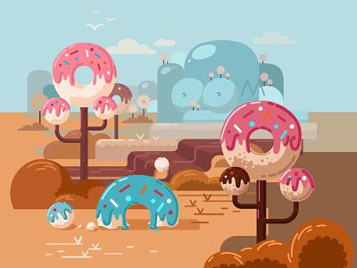 Mmm..donuts! minimal vector illustration design