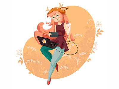 Character artist vector character illustration design