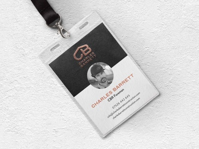 Legacy Design Agency: Roofing Company Branded Lanyard. logo illustration gold and black emboss logo design construction logo builders logo bronze logo branding black and gold