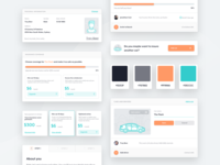 bunch /  Design System responsive ui design car insurance teal orange styleguide components branding colors branding identity color palette colors guidebook guides design guidelines design system