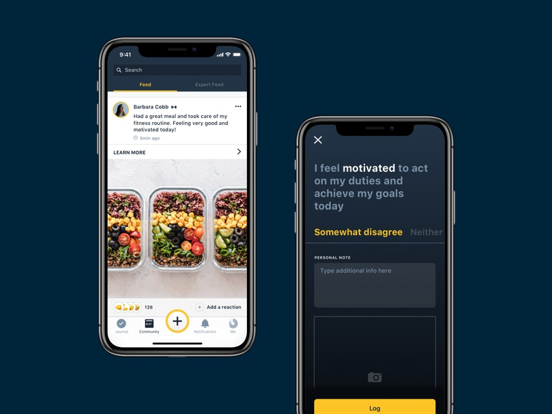 Warrior Up / Feed ux ui ios app personal performance activity motivation first responders social network fitness product design mobile apps food app android app ios mobile app ux design uidesign feed