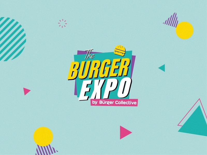 The Burger Expo / Logo design logo design vector identity visual burger 80s vintage retro logo branding