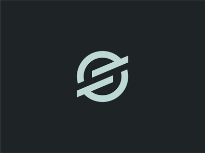 S monogram mark logodesign design gray green clean minimalist minimal simple swiss symbol icon custom unique branding logo lettermark wordmark letter