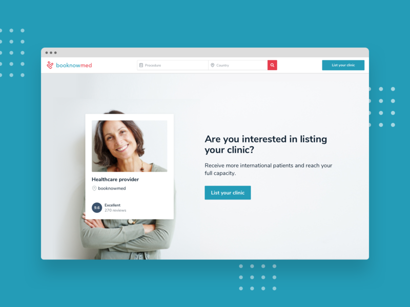 booknowmed / Home Page Concept concept responsive browser website webdesign landing page uidesign ui homepage travel app travel health app healthcare health medical medicine doctor clinic booking app