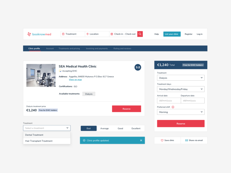 booknowmed / Design System medical design medical care ui design ux design uidesign ui webdesign website web elements responsive style guide system components doctor healthapp healthcare health medical