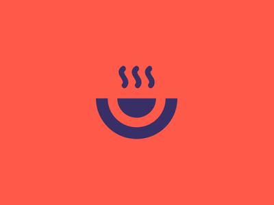 Dish simple unique blue orange visual identity branding vector mark symbol icon logo graphic design app design design food app app dishes food dish