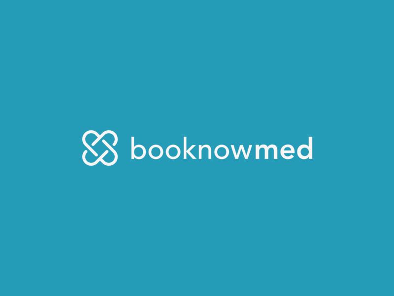 booknowmed / Logo Concept logomark blue logo design typography infinity bandage heart icon mark symbol unique medical care medical logo logo graphicdesign healthcare health medical app medical booking app