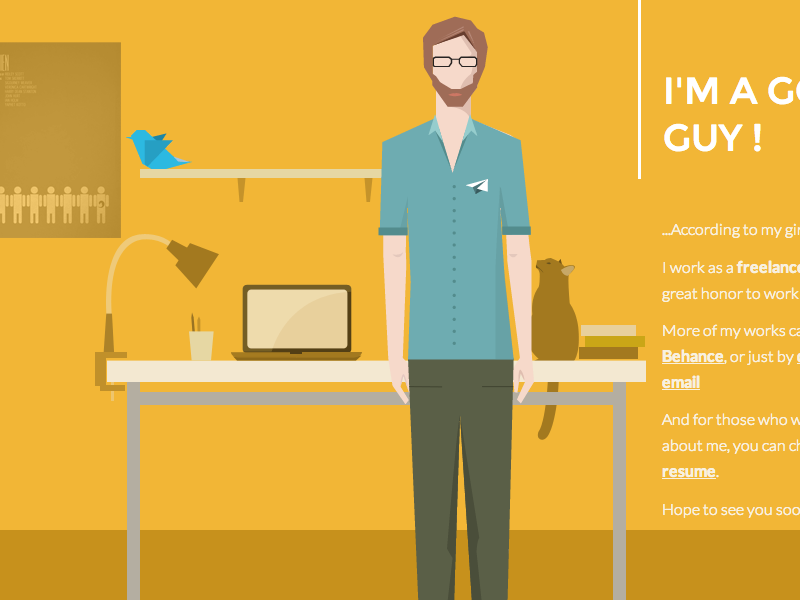 Portfolio 2013-2014 portfolio site website interactive flat illustration webdesign design freelance game