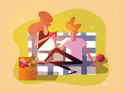 🌞 Summer Days summertime cartoon illustrator lille design digital art procreate character illustration