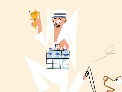 The Perils of a Milkman Life [Full view incl.] cartoon children illustration kidlitart kidlit character design characterdesign digital art character illustrator illustration