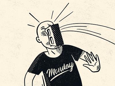 Monday halftones lofi handlettering lettering digital art illustrator illustration