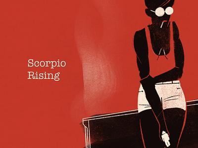 Scorpio Rising - Part 1 scorpio rising character illustrator novel 70s pulp comics procreate digital art vector illustration