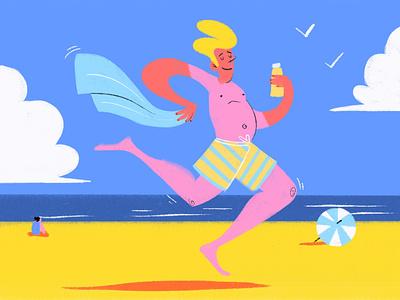 Vacation kidlit character design summer vacation digital art procreate illustrator illustration