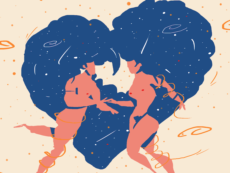 Valentine - First try with a Wacom art illustrator illustration cosmos space bodies love valentine wacom tablet