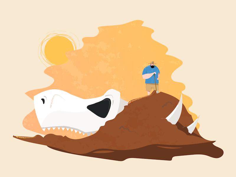 Paleontologist dribbble