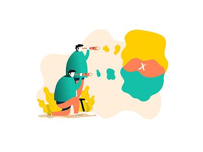 Points Of View illustrateur explorator exploration team looking glass graphic design art vector adobe illustrator illustration