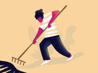 Gardening working character gardening lille france illustrator illustration