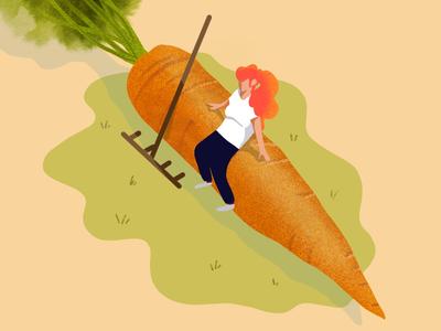 Small worlds 👩🌾🥕 nature characters gardening garden carrot vegetables france procreate lille illustratot illustration