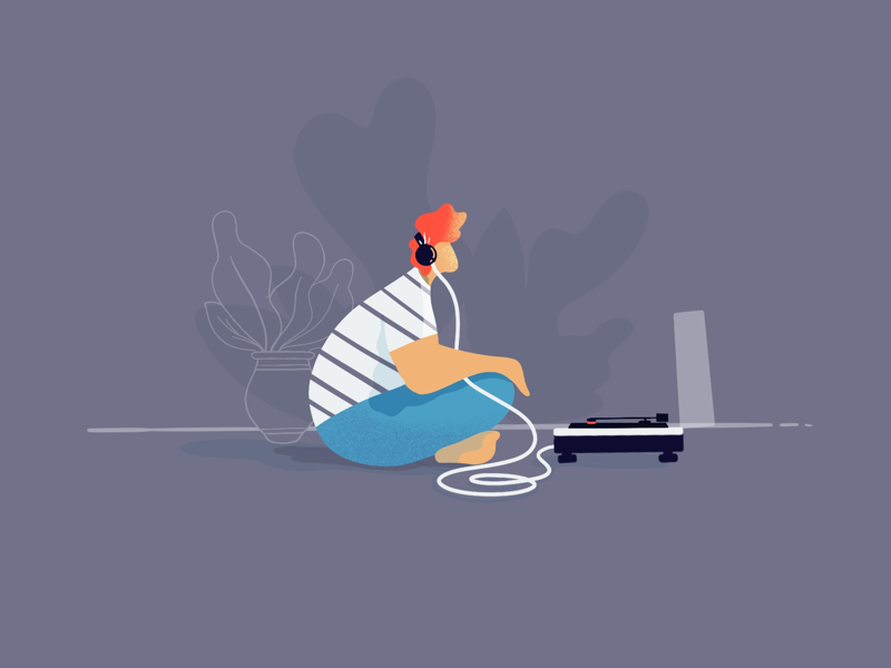 Music session 🎶🍃 ipad apple pencil audio turntable digital illustration illustration procreate digitalart
