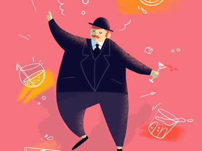 A bit tipsssyyyyy 🍹🍾 line texture character tipsy lille illustrator procreate illustration digital art