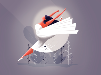 Tiny dancer 💃 digital illustration digital art france lille procreate sport classical dancing dancer illustrator illustration