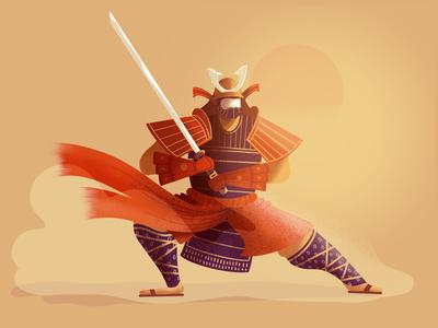 Blood battle 🇯🇵 character battle sword france lille procreate warrior samurai digital art illustrator illustration
