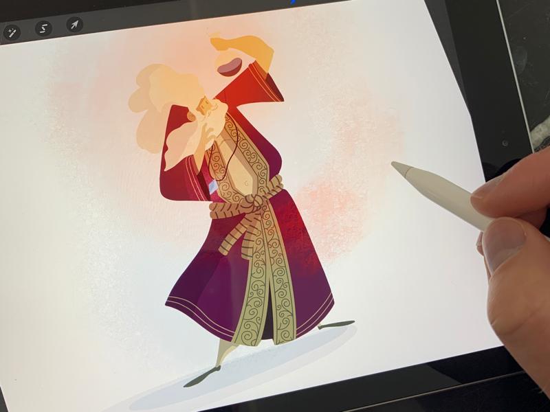 The Potion Maker magic character digital illustration digital art procreate character design sorcerer wizard illustrator illustration