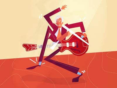 Kim Kix - Powersolo 🎸🤪 character design procreate lille rockabilly rock guitar cartoon powersolo digital art character band illustration