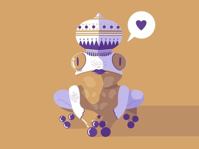 Royal Blood 🐸👑 graphic design animal character design digital illustration digital art fairy tale charming prince frog dribbble procreate illustrator illustration