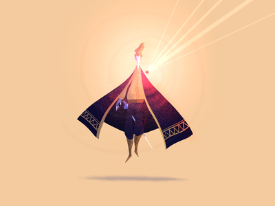 The levitation stone 🧙🏻♂️🌀 lille character stone magic magician dribbble procreate drawing design character design illustrator illustration