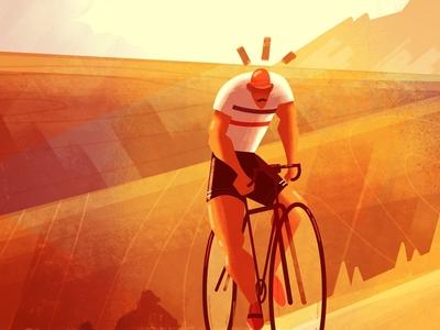 Tour de France 🚴♂️🇫🇷 editorial illustration painting cycling lille art illustrator digital art character illustration
