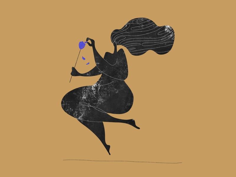 Sapphire, Ashes & Gold 1/3 blue black gold procreate lille digital art flat illustrator vector illustration