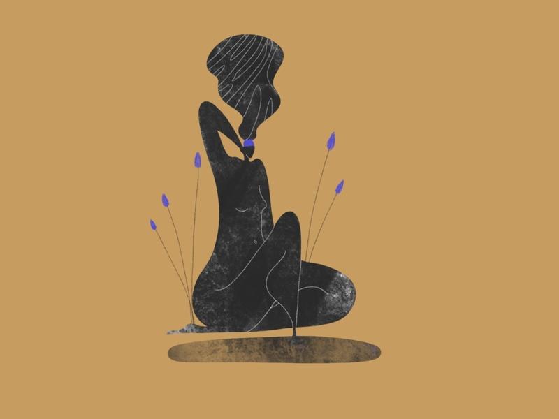 Sapphire, Ashes & Gold 2/3 lille art design flat digital art procreate character illustrator vector illustration