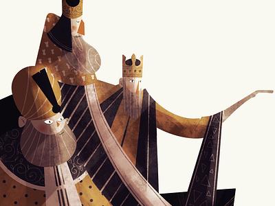 Three Pale Kings book design characterdesign illustration art illustrateur lille digital art procreate character illustrator illustration