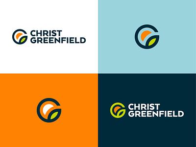 Rebrand for Christ Greenfield brand identity seed farm grow clean minimal icon branding sunrise sun leaf chruch jesus monogram c rebrand strategy identity brand logo