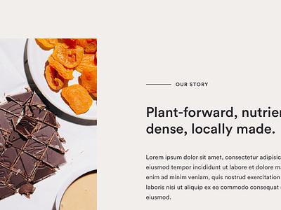 exploration website food ui design typogaphy webdesign