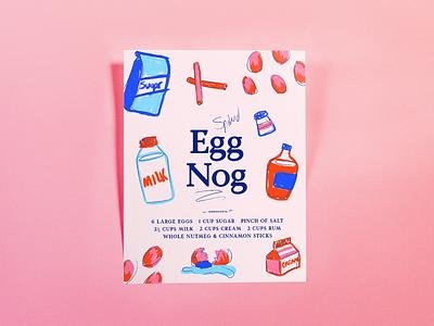 Spiked Eggnog Poster poster illustration holiday eggnog food
