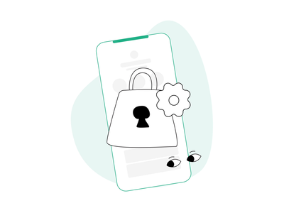Privacy and Security Animation privacy security onboarding illustration animation