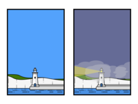 Lighthouse Night/Day