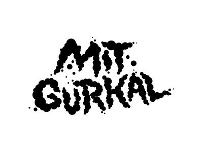 MIT GURKAL typography illustrator vector minimal logo illustration design