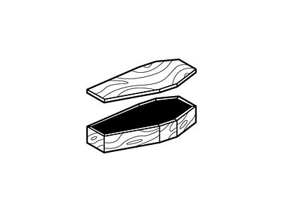 COFFIN illustrator vector minimal illustration design