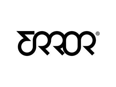 ERROR typography logo vector minimal illustrator design